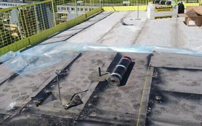 Veidekke Vestli skole montasje av fallsikring for vagtmester og service personel