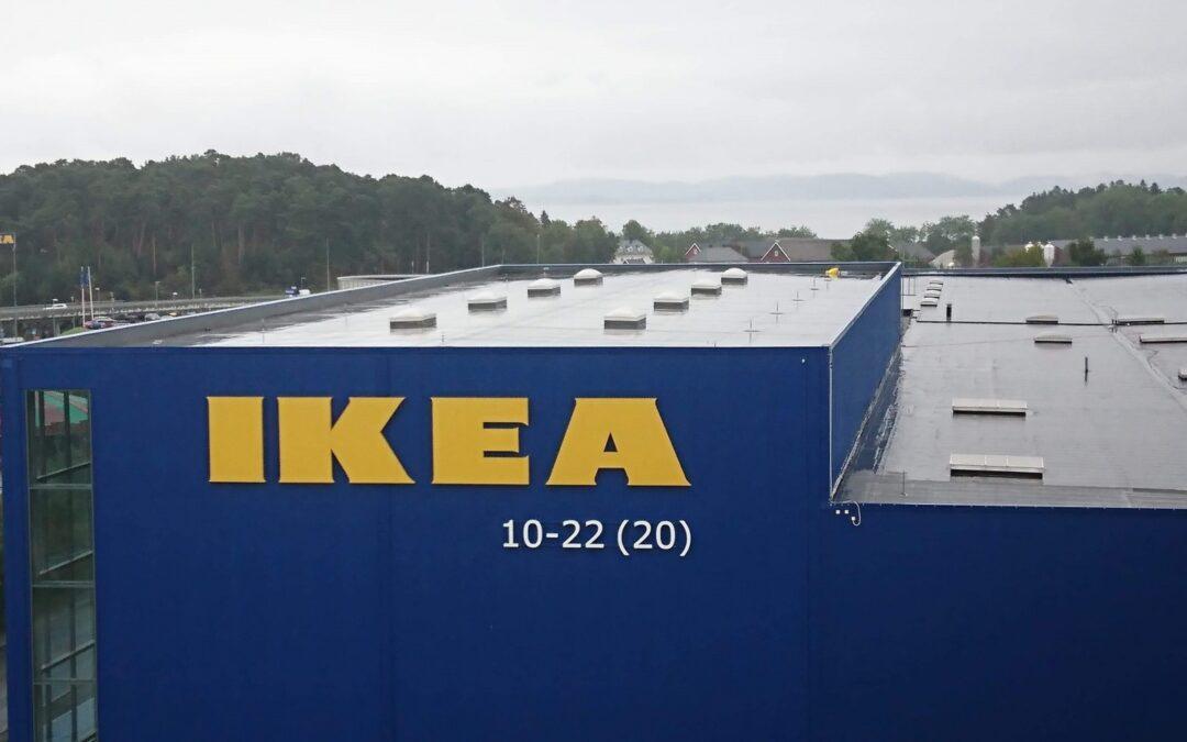 Fallsikring på Ikea Trondheim