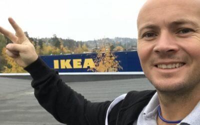 Fallsikring på Ikea Administrasjon Slependen